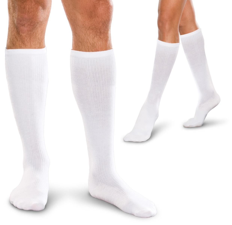 【ハイソックス】長時間の立ち仕事や脚の疲労回復に! とっても履きやすい弾性ストッキング 10-15mmHg ハイソックス/極厚手(男女兼用)